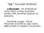 co founder defined