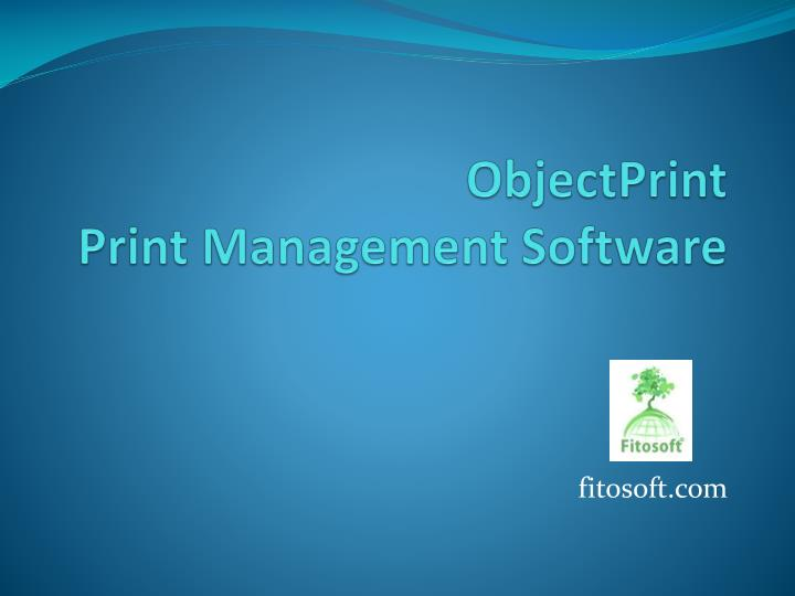 objectprint print management software n.