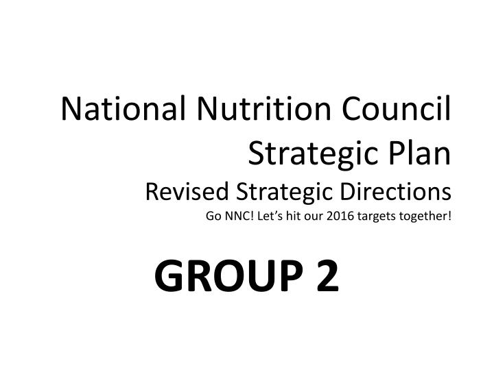 National Nutrition Council