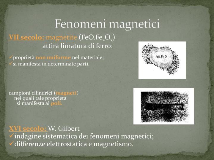 Fenomeni magnetici