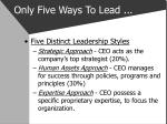 only five ways to lead2