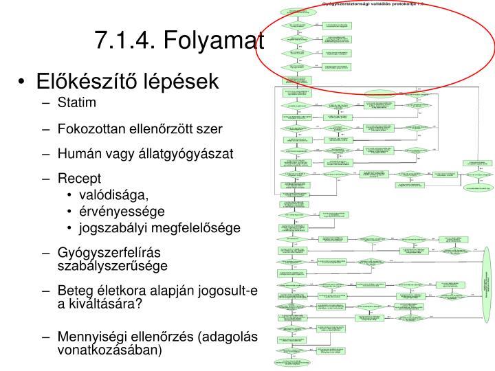 7.1.4. Folyamat I.