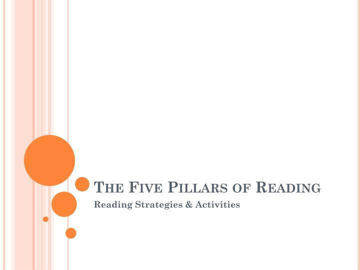 the five pillars of reading n.