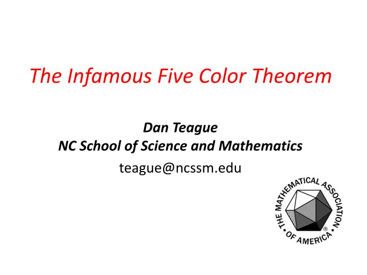 the infamous five color theorem n.