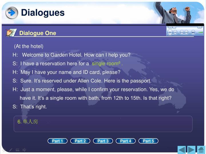 Dialogue One