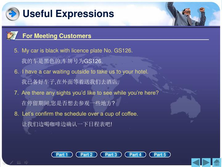 For Meeting Customers