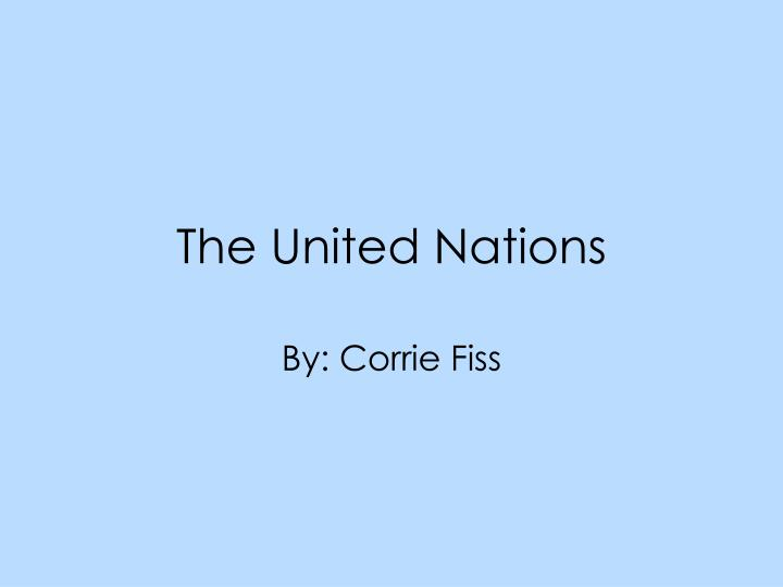 the united nations n.