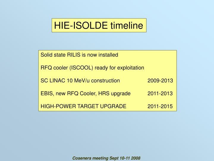 HIE-ISOLDE timeline