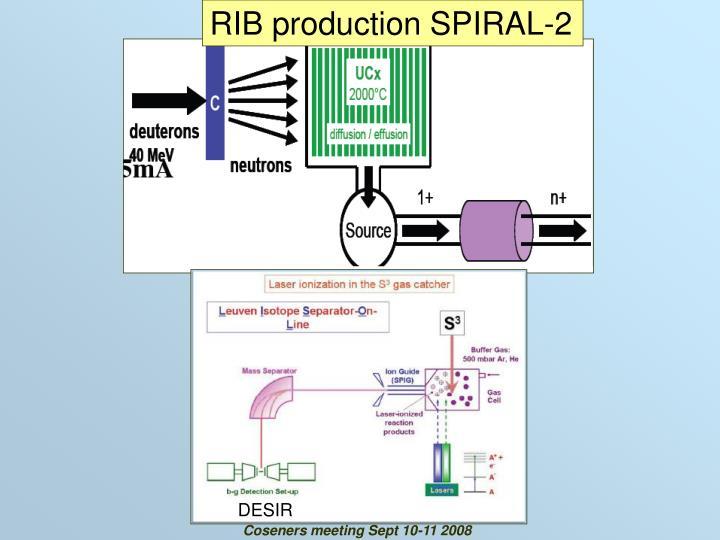 RIB production SPIRAL-2