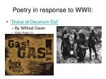 poetry in response to wwii