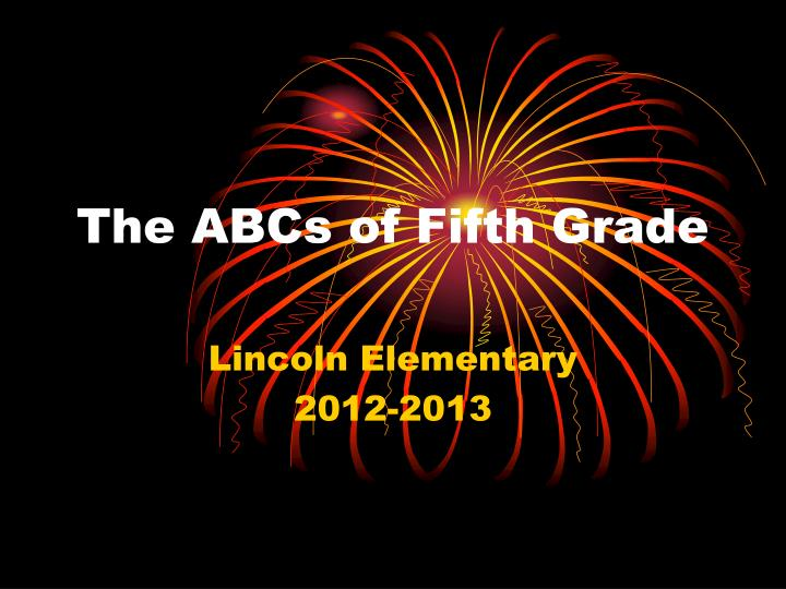the abcs of fifth grade n.
