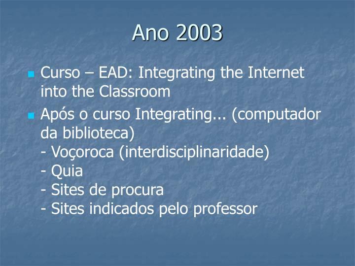 Ano 2003