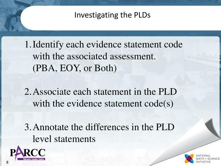 Investigating the PLDs