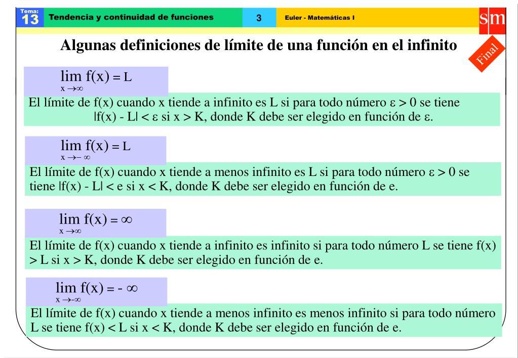 PPT - Límite finito en el infinito PowerPoint Presentation