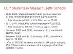 lep students in massachusetts schools
