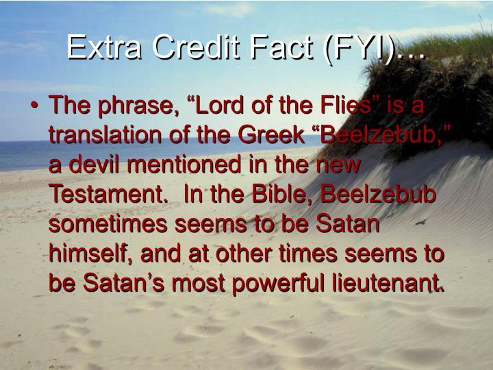 Extra credit fact fyi