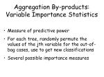 aggregation by products variable importance statistics