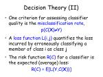 decision theory ii