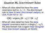 gaussian ml discriminant rules1