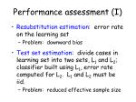 performance assessment i
