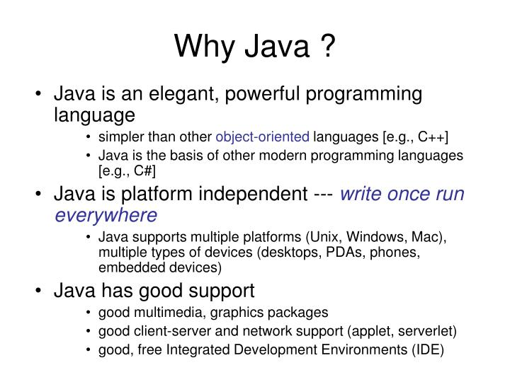 why would java advocates support unix Why linux lovers jilt java  there's a none-to-subtle bifurcation in the linux community that java advocates must understand  gnu's not unix then let's .