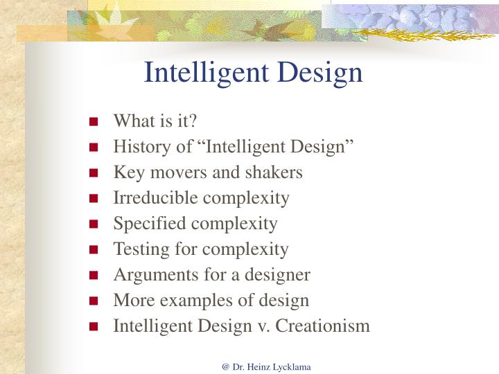 intelligent design todays new world essay Why intelligent design fails: a scientific critique of the new creationism, rutgers university press (2004) isbn -8135-3433-x joan roughgarden evolution and christian faith: reflections of an evolutionary biologist island press (august 1, 2006) isbn 1-59726-098-3.
