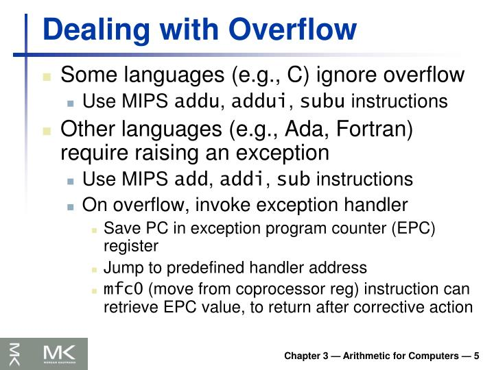 Dealing with Overflow
