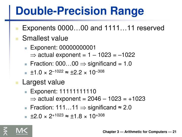Double-Precision Range