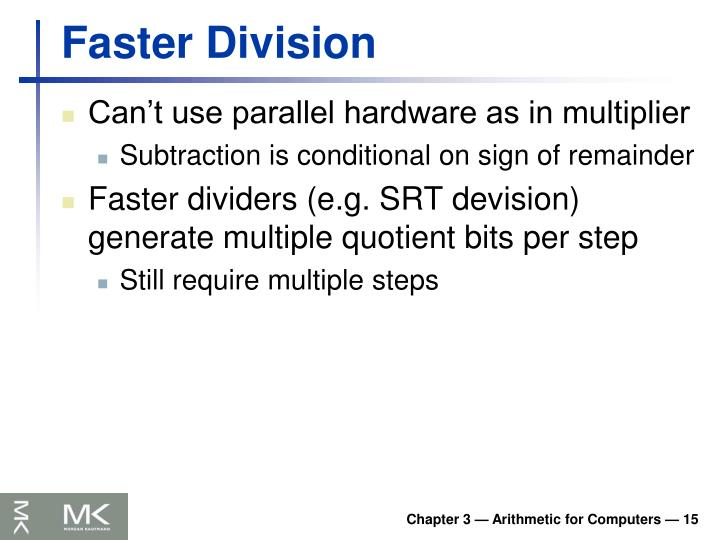 Faster Division