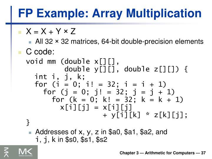 FP Example: Array Multiplication