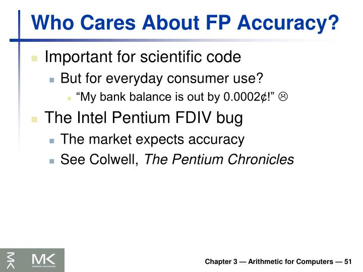 Who Cares About FP Accuracy?