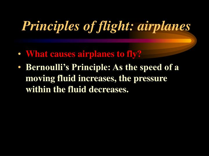 Principles of flight: airplanes