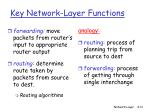 key network layer functions