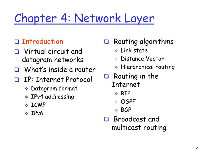 Chapter 4 network layer1