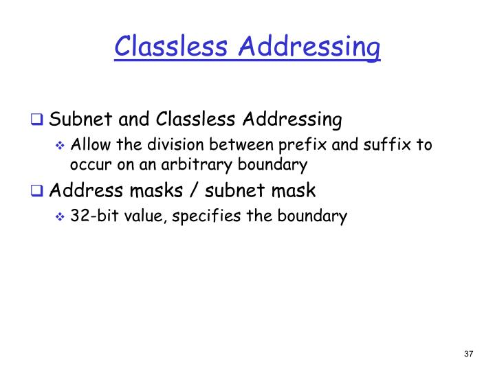 Classless Addressing