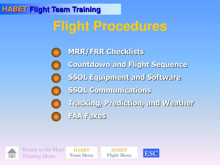 flight procedures n.