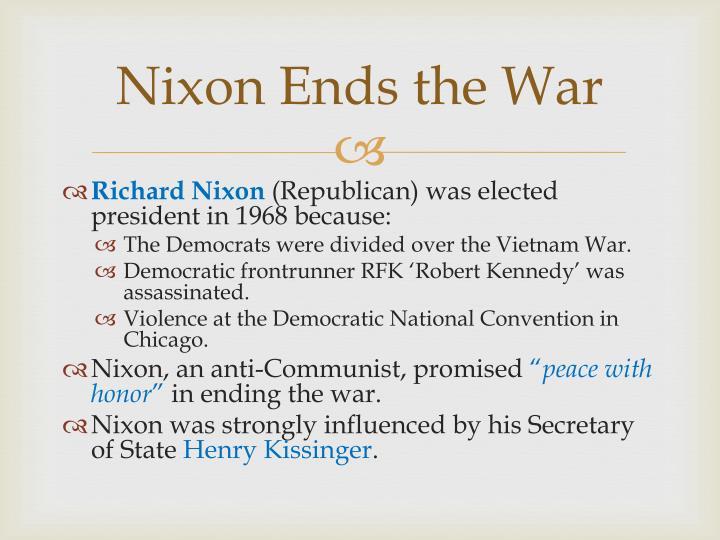 Nixon Ends the War