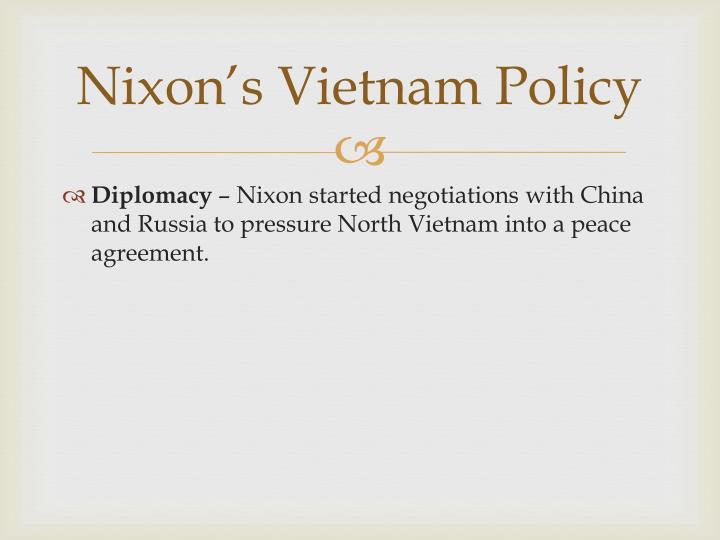 Nixon's Vietnam Policy
