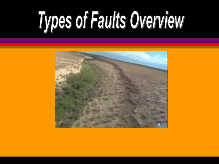 Types of Faults Overview