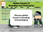 global issues in branding and packaging