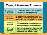types of consumer products2