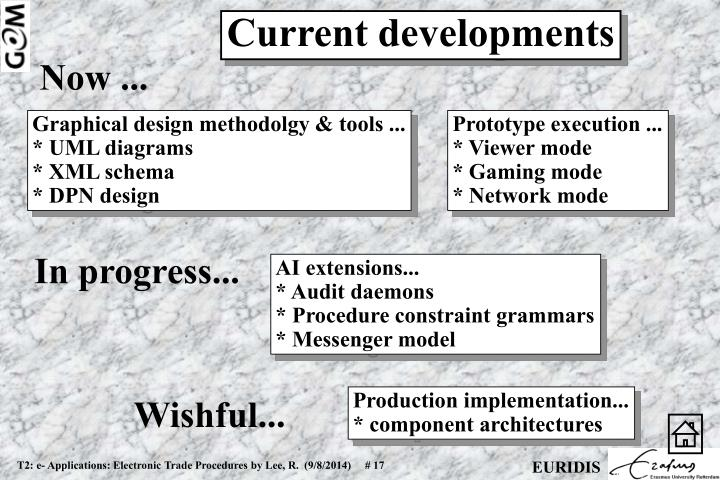 Current developments