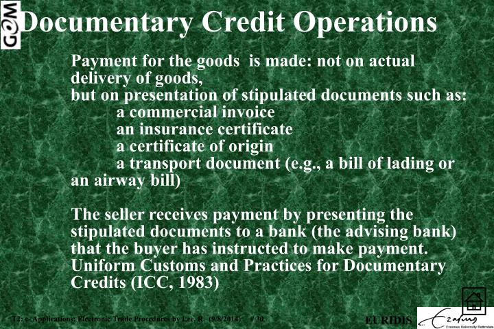 Documentary Credit Operations