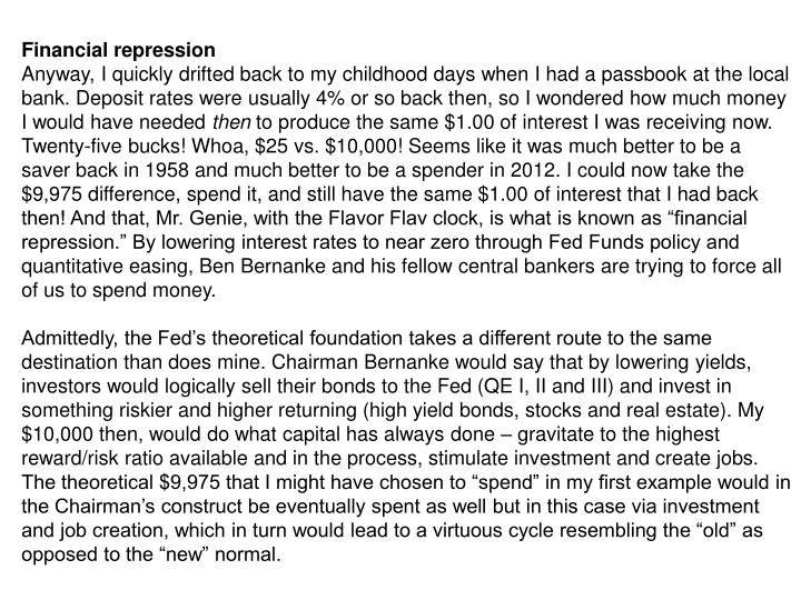 Financial repression