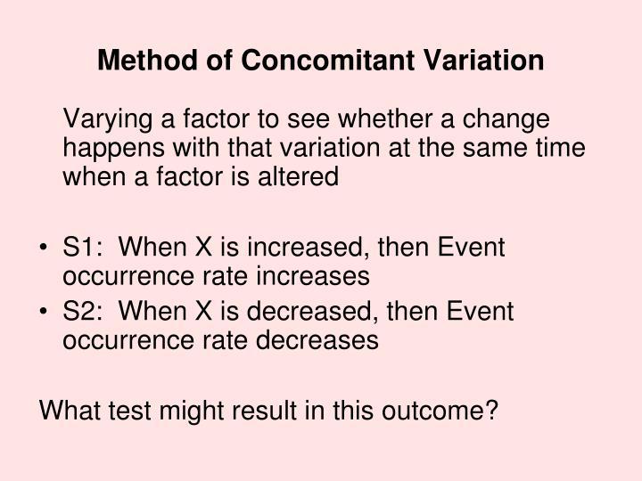Method of Concomitant Variation