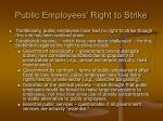 public employees right to strike