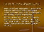 rights of union members cont