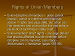 rights of union members