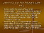 union s duty of fair representation cont1