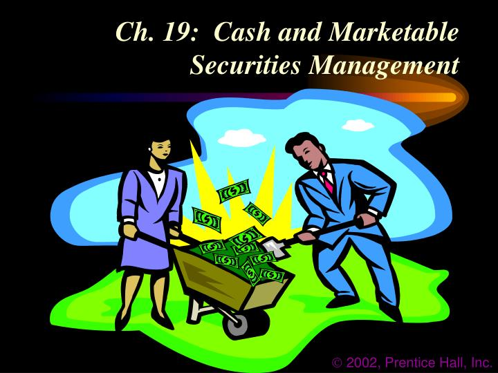 ch 19 cash and marketable securities management n.